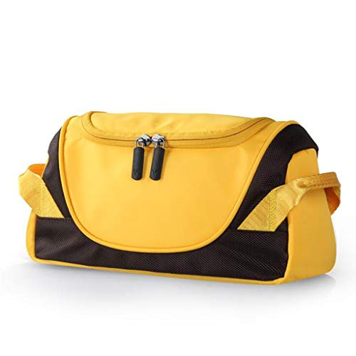 Trousse de toilette Étanche Cosmetic Bag Storage Grande Capacité Multi-Fonction Portable Simple Travel Wash Universal 2 Couleur 24.5 * 11.7 * 12.6cm MUMUJIN (Color : Yellow)
