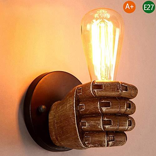 E27 wandlamp Retro industrie wandlamp vintage zolder restaurant decoratie wandverlichting hars hand type muur spot binnenverlichting gang slaapkamer keuken lamp One Right Hand