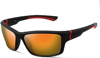 QWKLNRA - Gafas De Sol para Hombre Lente Amarilla De Marco Negro Y Rojo Polarised Sports Sunglasses Cycling Gafas Gafas De Sol Deportivas Deportivas Deportivas Sports Bike Sunglasses Hombres Ciclismo
