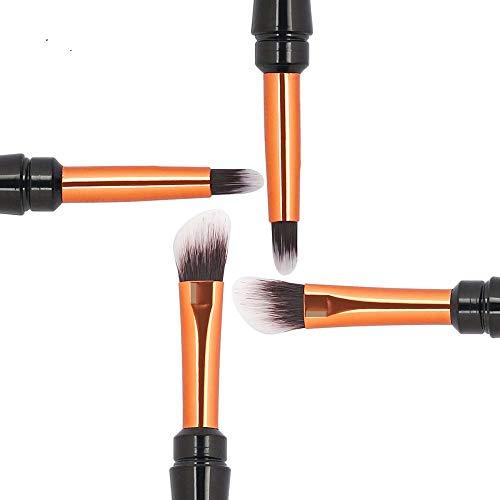 HZSLRL Pro1Pc Double Tête Brosses Pour Maquillage Pinceau À Sourcils + Ombre À Paupières Peigne Doux Synthétique Cheveux Cosmétiques Essentials Mélange Des Yeux