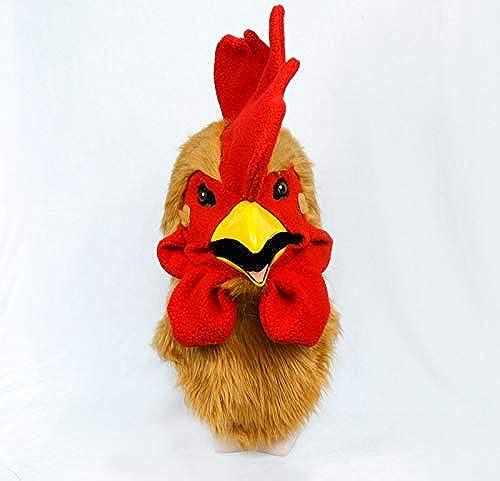 ZUAN Gelber Hahn, der Mund-Masken-Hahn-Kopf-Hahn-Kopfbedeckungs-Hahn-Kopf-Masken-Partei-Halloween-Feiertag im Freien bewegt (Farbe   Gold, Größe   25  25)