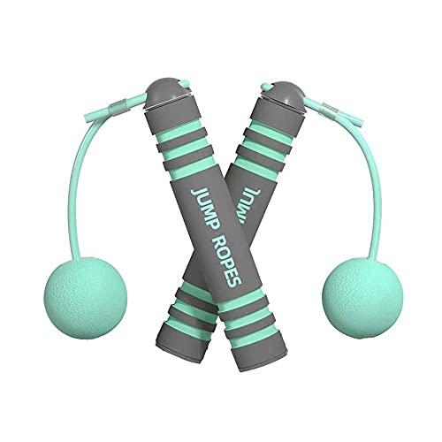 Cuerda de salto sin cuerda para ejercicios de salto de entrenamiento sin cuerda para saltar para interiores y exteriores en casa gimnasios (verde)
