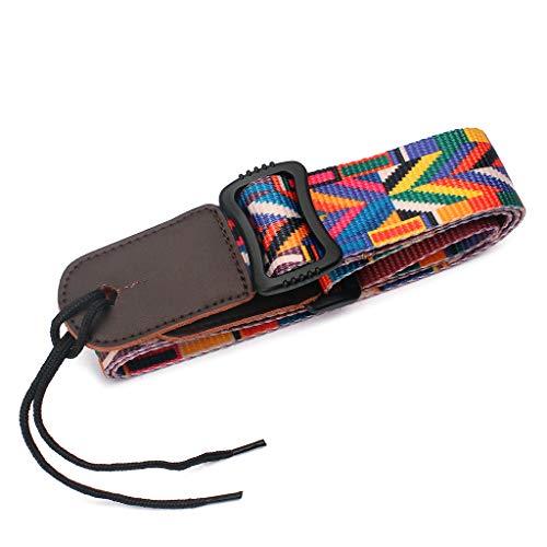 Bciou Rainbow Stripe Guitar Strap Adjustable Belt Beginner Tool Musical Accessories