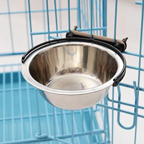 Tuzi Qiuge Pet Supplies, Futternapf Haustier Edelstahl Material, Feste Abnehmbare Halter abnehmbar Katze und Hundenahrungsmittelschüssel, Hängen Futternapf Bowl