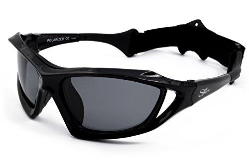 Óculos de sol flutuantes SeaSpecs Stealth Extreme Sports, Preto, One Size