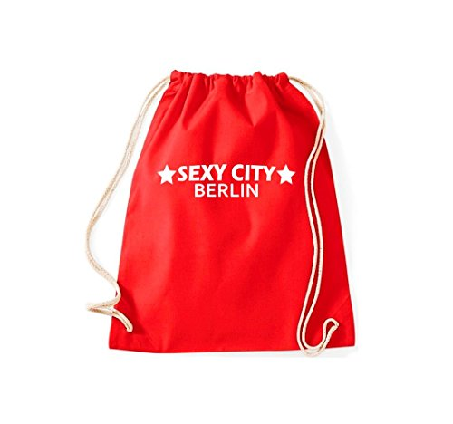 Unbekannt Turnbeutel Sexy City Berlin Dein Stadtbeutel Gymsack Kultsack rot