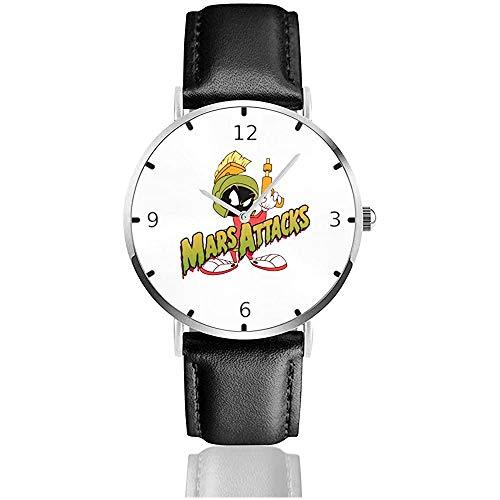 Orologio da polso da uomo minimalista alla moda Marvin The Martian Planet