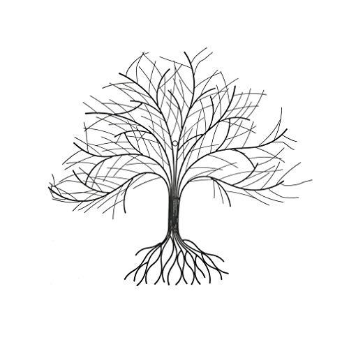 Wandbild Baum aus Metall 84 cm groß Metallbild Gartendeko Dekowandbild Wanddeko aus Metall Lebensbaum Metallwandbild Wanddekoration Metall
