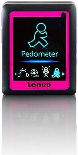 Lenco MP4 Player Podo 152 integriertem Schrittzähler 4,6 cm LCD Bildschirm, 4GB interne Speicher, SD Kartenslot, USB   rose