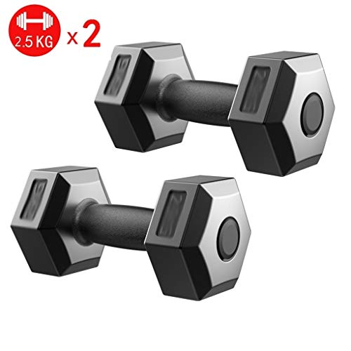Dumbbells Hex Dumbbell Men's Fitness Home Rubber Hex Cast Iron Dumbbell Weight Kit 1 Pair 5kg, 10kg, 15kg, 20kg Weight Lifting (Size : 5kg)