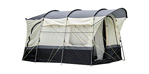 OLPRO Outdoor Leisure Products Loopo - Toldo de acero para caravana, 3,4 m x 3,3 m, 2 amarres, color negro y gris