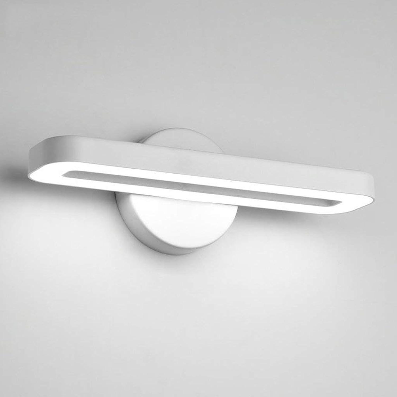 Ali LED Wandleuchte Einfache Moderne Schlafzimmer Spiegel Vorne Lampe Wohnzimmer TV Wandleuchte Studie Lesen Büro Wandleuchte (Farbe  Wei)