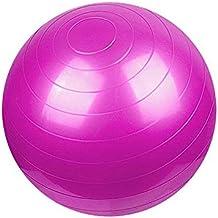 Sports Yoga Balls Pilates Fitness Gym Balance Fitball Exercise Pilates Workout Massage Ball with Pump PINK