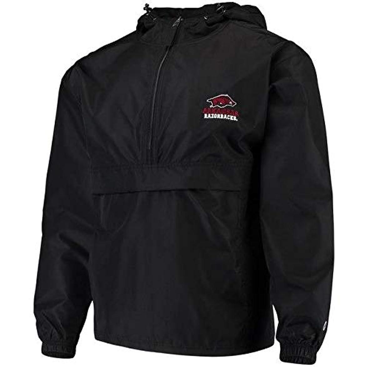 魂先史時代の花束Champion Champion Arkansas Razorbacks Black Packable Jacket スポーツ用品 【並行輸入品】