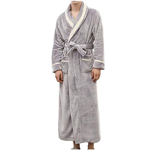 ELECTRI Warmer Fleece-Bademantel für Damen Langer Flanell-Bademantel Dicker Morgenmantel Sauna Superweicher, weicher Bademantel