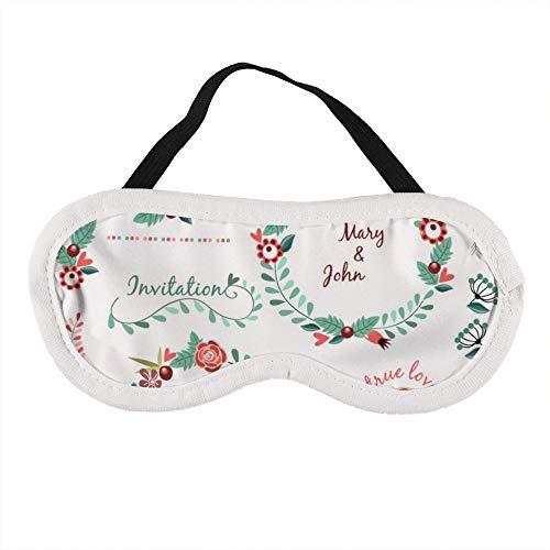 Draagbaar Oogmasker voor Mannen en Vrouwen, Bruiloft Patroon Pak Garland Bloemenlint De Beste Slaap masker voor Reizen, dutje, geven U De Beste Slaap Omgeving