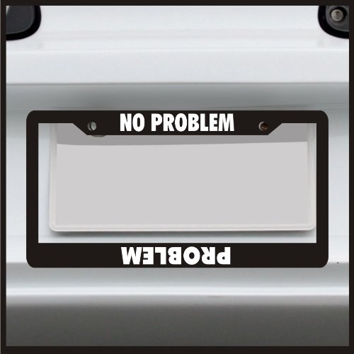 SHUT THE FRONT DOOR  funny  License Plate Frame