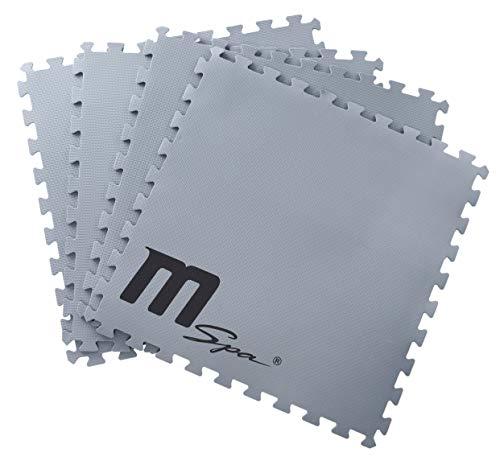 SHATCHI Mspa-/Whirlpool-Schaumstoff, 59 cm x 59 cm, 9-teiliges Set, ineinandergreifende weiche Bodenmatten, geeignet für 4P quadratische/runde Spa und Mono, Grau