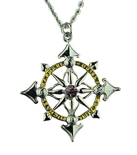 Místico Kabbalah Arcanjo Compass para a harmonia com Pessoas & Lugares colar de pingente de Talisman