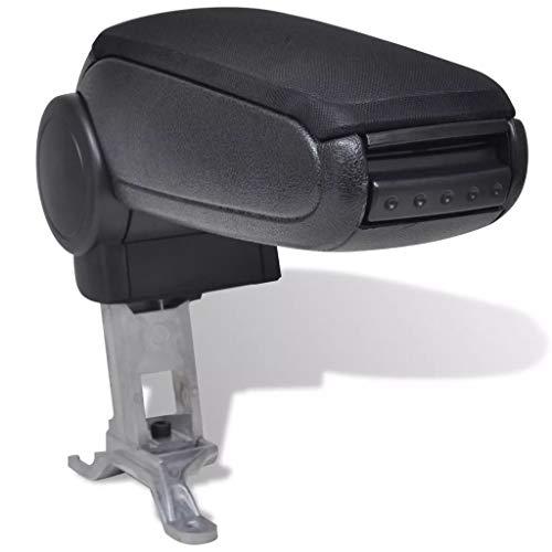 vidaXL Reposabrazos para Diferentes Modelos de Coche ABS Negro Apoyabrazos