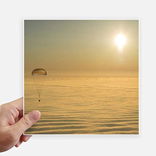 DIYthinker GoldEd Bright Sun Ballon Autocollant carré Cloud Se 20CM Mur Valise pour Ordinateur Portable Motobike Decal 4Pcs 20Cm X 20Cm Multicolor