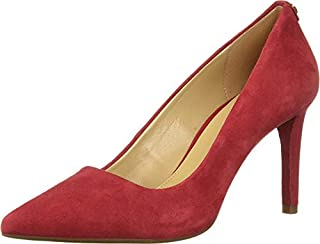 Michael Kors Womens Dorothy Flex Pump Leather Pointed Toe, Scarlet, Size 8.5