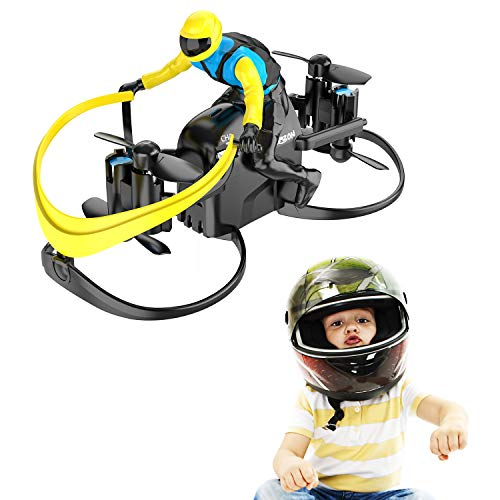 Mini Drone, Tomzon U48 RC Stunt Doll with Paraglider Flight, One Key Demo, Altitude Hold RC Quadcopter, Nano Drone for Kids and Adults (Blue)