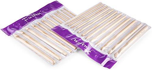 Fusion - Juego 12 Agujas Ganchillo bambú tamaños