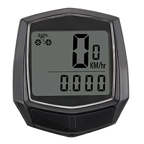 YZDKJ Bicicleta por Cable cronómetro de Bicicleta computadora multifunción velocímetro odómetro Sensor al Aire Libre Deportes Accesorios para Bicicletas