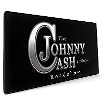 Johnny Cash ジョニー キャッシュ マウスパッド 大型 おしゃれ ゲーミングマウスパッド キーボードパッド 防水 疲労軽減 水洗い 耐久性が良い 滑り止め 高級感 Fpsゲーム ゲーミング オフィス最適 900*400*3mm