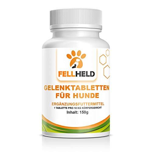 FELLHELD Gelenktabletten für Hunde mit Grünlippmuschel, Magnesium, Vitamin C und E, Selen, Methionin - 90 Kapseln Ergänzungsfutter - Made in Germany - Allrounder der Gelenkgesundheit