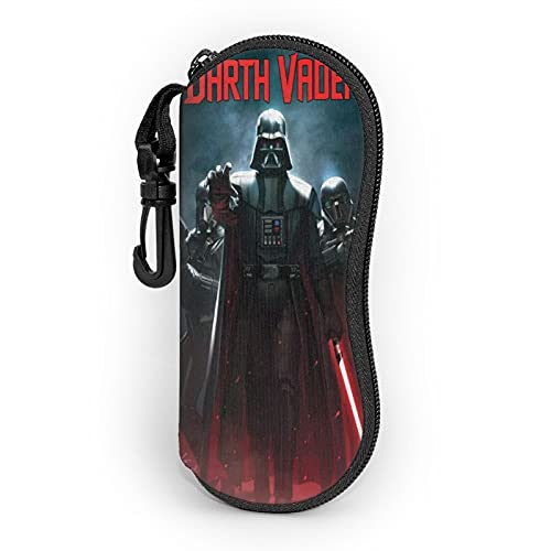 Darth Vroer Sunglasses Soft Case With Belt Clip, Portable Glasses Case Neoprene Zipper Eyeglass Bag