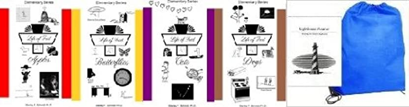 Life of Fred SET Apples, Butterflies, Cats, Dogs Homeschool Kit in a Bag