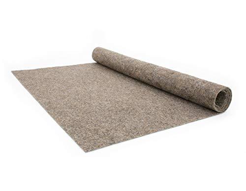 Teppich-Boden Rips Malta B1 - Braun, 2,00m x 1,00m Rips-Nadelfilz, Schwer Entflammbar, Höhe ca.2mm, Gerippter Bodenbelag für Events und Messen