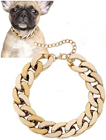 Posh Petz Gold Link Chain Necklace for Dogs 27 cm Tiny Bling for Small Dog or Puppy Lightweight product image