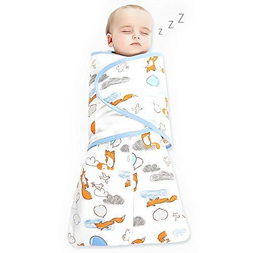 Phiraggit Sacco a pelo per neonati, sacco a pelo simpatico cartone animato animale, sacco a pelo senza maniche per neonati 0-6 mesi tutto l'anno (0.5tog)
