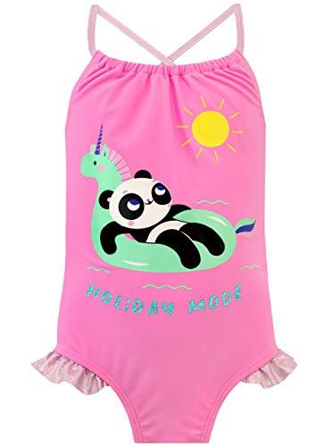 Harry Bear Costume da Bagno per Ragazze Panda Multicolore 11-12 Anni