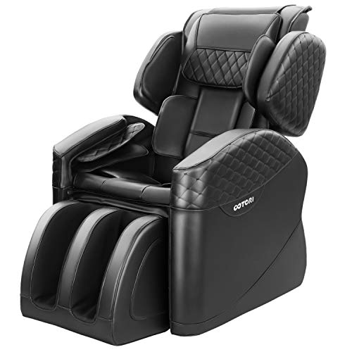 TinyCooper Massage Chair, Zero Gravity Massage Chair, Full Body Massage Chair with Lower-Back Heating and Foot Roller (NBlack)