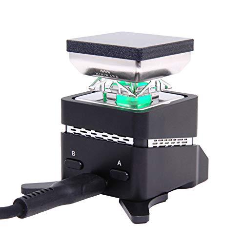 VISLONE MHP30/MHP30PD (optional) 30 x 30 mm Heizbereich Heizplatte Vorwärmer Mini Konstante Temperatur Hheating Tisch Intelligentes Heizwerkzeug Tragbares Vol Eingebauter OLED-Display