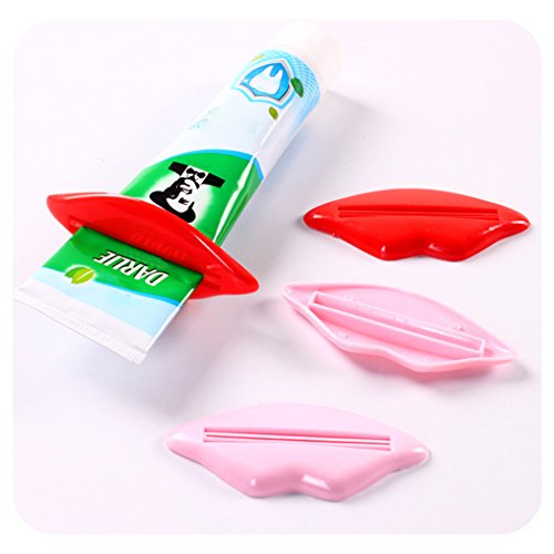 outgeek 2PCS Tube Squeezer Crème Pour Le Visage Squeezer Creative Plastic Dentifrice Squeezer Pour Salle De Bains (Couleur Aléatoire)