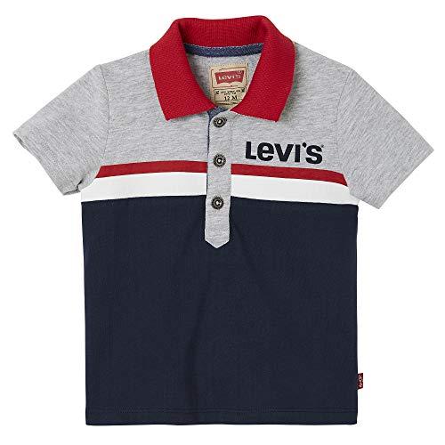 Levi's kids Nn11014 48 Polo Shirt, Azul (Dark Blue), 3-6 Meses (Talla del Fabricante: 6M) para Bebés