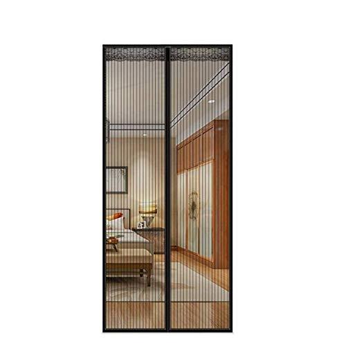 FENG Fliegengitter Magnete 100x230cm, Magnet Vorhang, Auto geschlossen, Klebemontage, Für Türen/Patio/Wohnzimmer - Schwarz