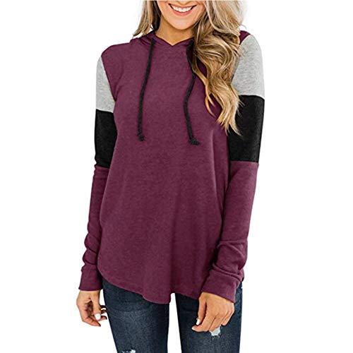 Rendon Sudaderas con capucha para mujer, estilo casual, otoño, túnica de manga larga, con cordón