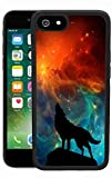 Galaxy Wolf howling Case for iPhone 6s 6, TPU and PC Customized Design Skin Cover, Black Anti-slippery Anti-Scratch Protective Case for iPhone 6s 6