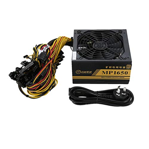 1600W Mining Machine Power Supply ATX For 8 GPU ETH BTC Rig Ethereum Coin Miner
