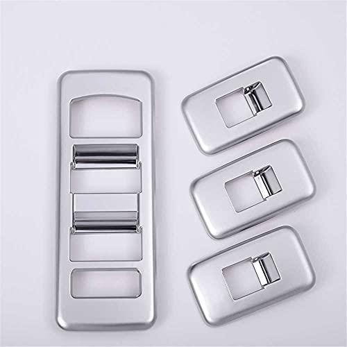 SAXTZDS Accesorios de Coche, Cubierta de Ajuste de Interruptor de elevación de Ventana Interior, Apto para Land Rover Range Rover Sport 2014-2017