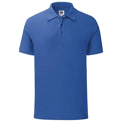 Fruit of the Loom Iconic Polo Shirt Größe S - 3XL, Größe:L, Farbe:Retro Royalblau meliert