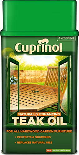 Cuprinol 5212362 Natural Enhancing Teak Oil Exterior Woodcare, Clear