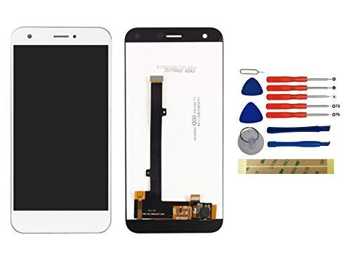Yixi Pantalla para ZTE Blade A512 / ZTE Z10 5.2' Pantall LCD Pantalla Táctil Blanco Repuesto de Pantalla Recambio (sin Marco)