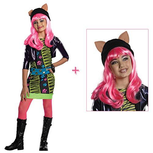 Satief Kinder Howleen Wolf Kinder Kostüm & Perücke / Monster High / Halloween & Karneval Mädchen Party (140/146 (8-10Jahre))